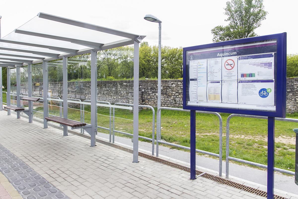 Aquincum HÉV megállóhely-utasperonok áthelyezése és kiépítése
