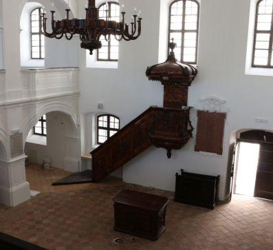 A pápai református Ótemplom felújítási munkálatai