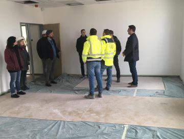 Corvin 5 irodaház belső befejező munkálatai