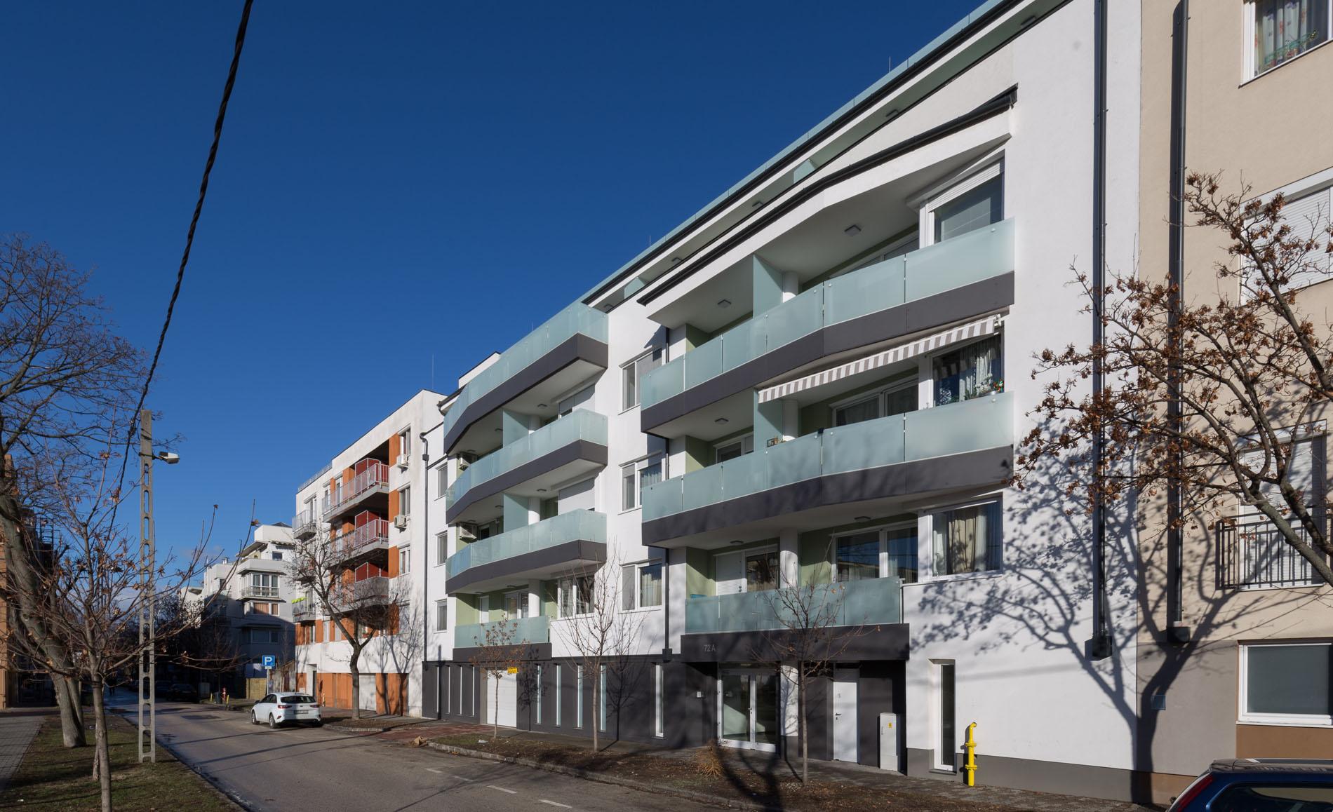 Saját ingatlanfejlesztés keretében egy 6 szintes, 26 lakásos, liftes társasház generálkivitelezése Angyalföldön, a Fáy utca megújult részében