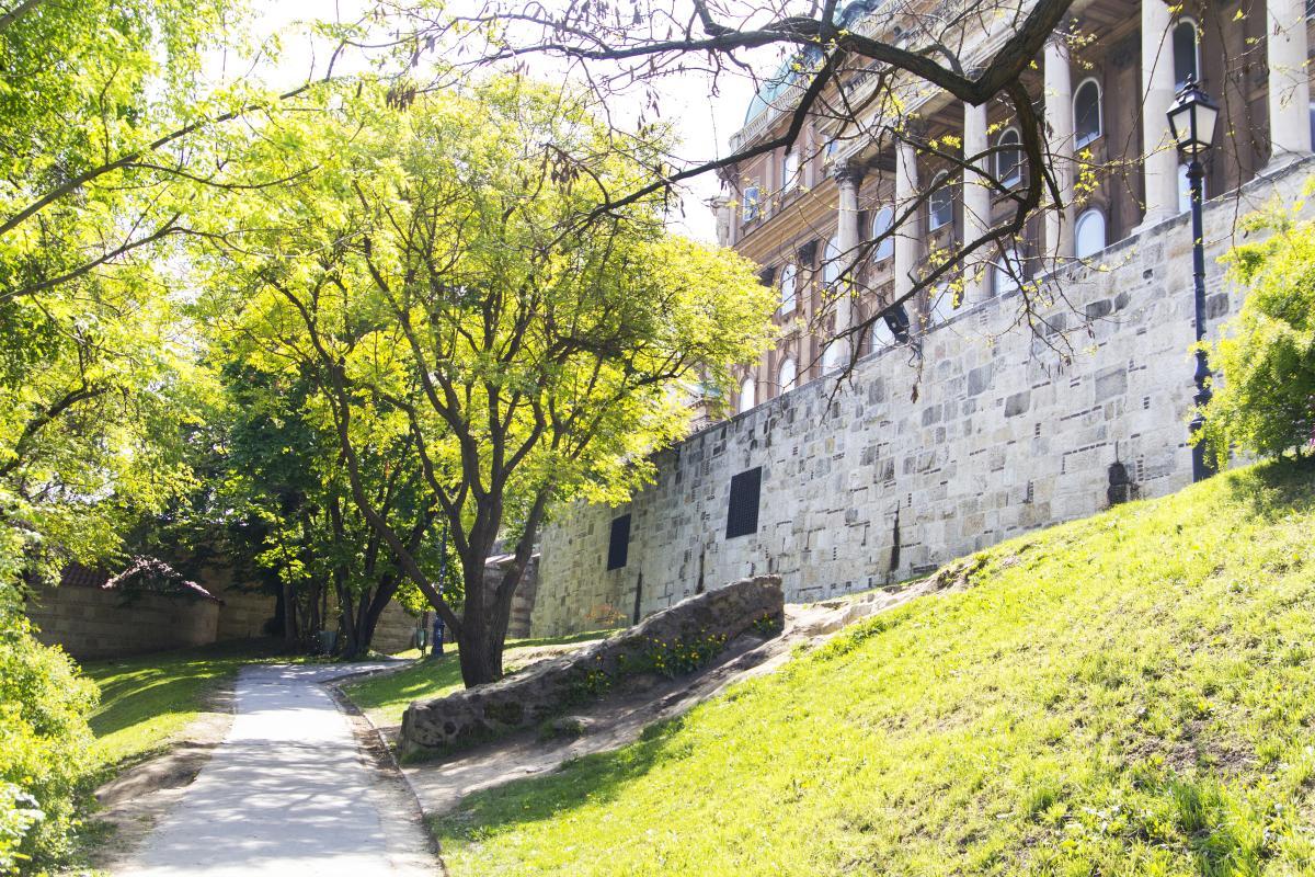 Budai vár-5-ös várfalszakasz rekonstrukciója