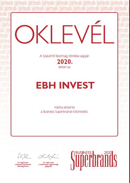 Kétszeres Business Superbrands díjas lett az EBH INVEST Kft.