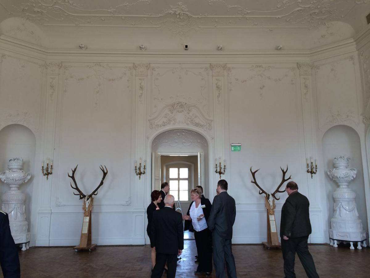 Restaurátori munkálatok a hatvani Grassalkovich-kastélyban